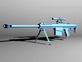 Barrett M82 Sniper System 3d preview