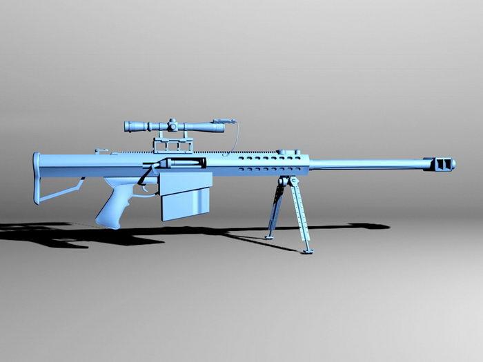 Barrett M82 Sniper System 3d rendering