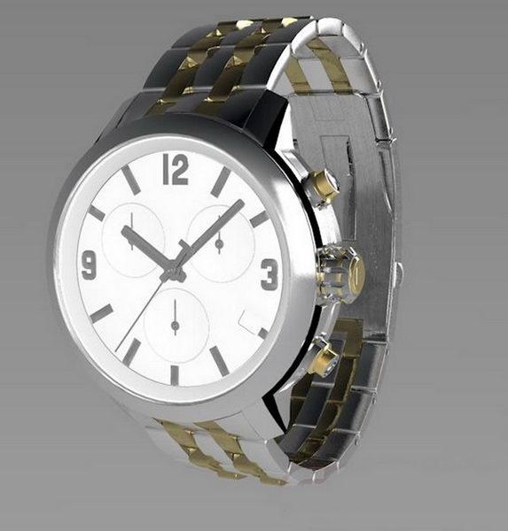 Tissot Watch 3d rendering