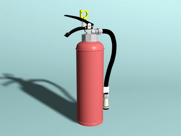 Dry Chemical Extinguisher 3d rendering