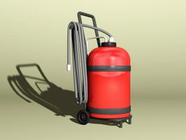 Wheeled Extinguisher 3d model preview