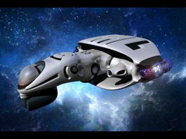 Concept Starship 3d preview