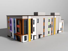 Classroom Building 3d preview