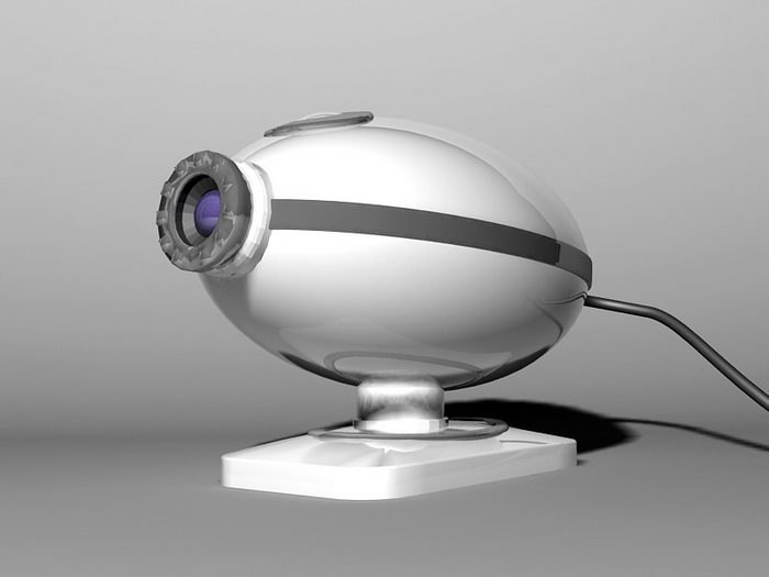 IP Security Camera 3d rendering