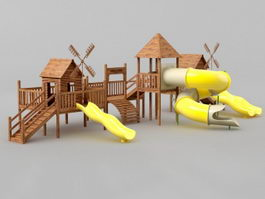 School Playground Equipment 3d preview