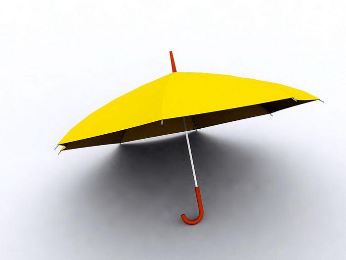 Yellow Umbrella 3d rendering