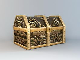 Animated Treasure Chest 3d model preview