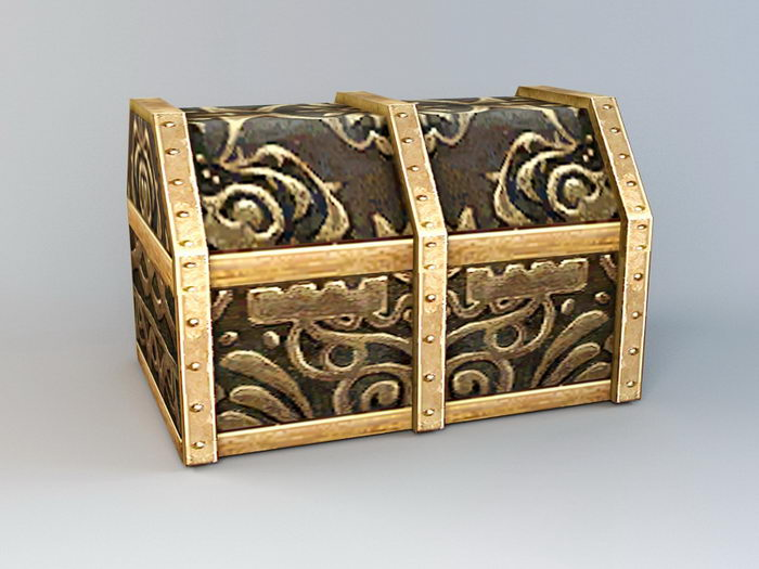 Animated Treasure Chest 3d rendering