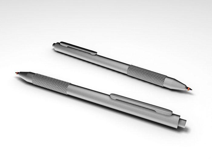 Ballpoint pen 3d rendering