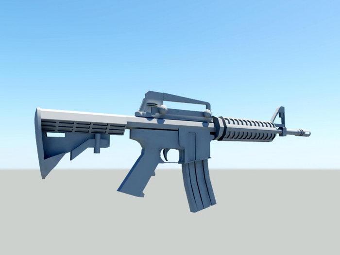 M16 Assault Rifle 3d rendering