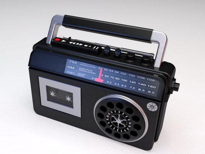 Radio Cassette Player Recorder 3d rendering