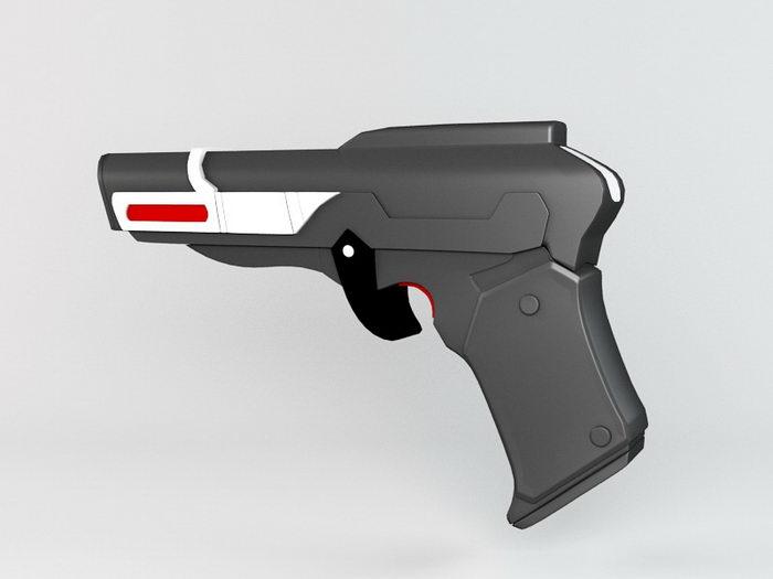 Sci-Fi Energy Pistol 3d rendering