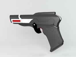 Sci-Fi Energy Pistol 3d model preview
