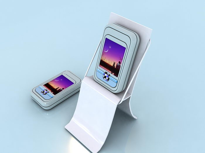 Old Slide Cell Phone 3d rendering
