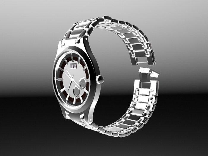 Ernest Borel Watch 3d rendering