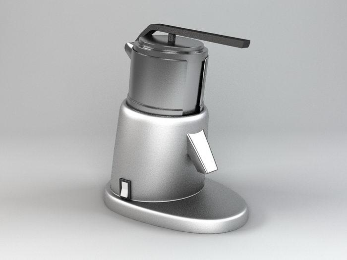 Hand Juicer 3d rendering