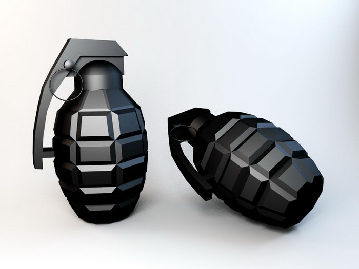 Pineapple Grenade 3d rendering