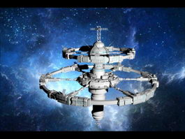 Sci-Fi Space Station 3d preview