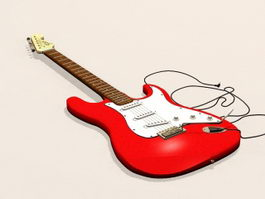 Electric Bass Guitar 3d preview