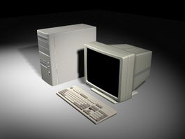 Old Computer 3d model preview