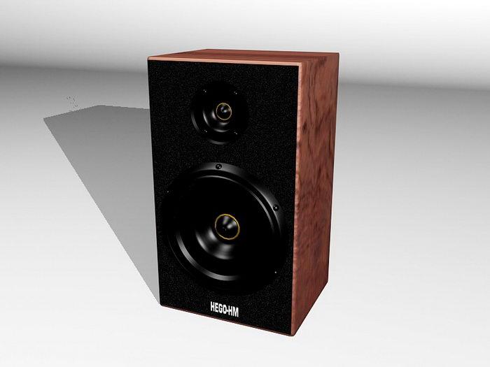 Hi-Fi Speaker Box 3d rendering