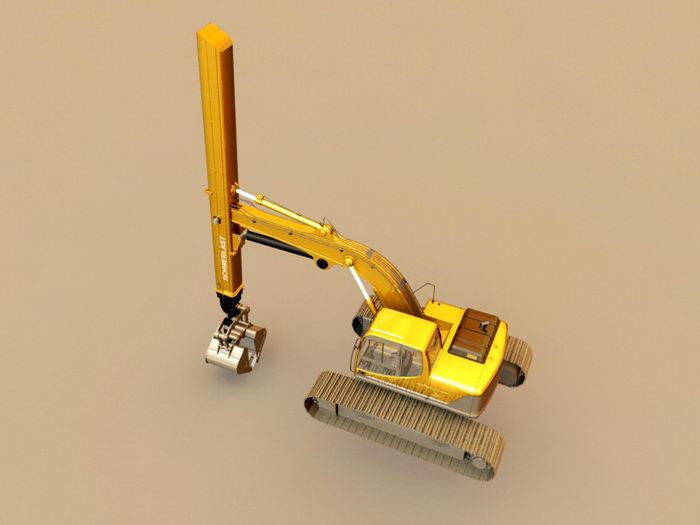Deep Excavator 3d rendering
