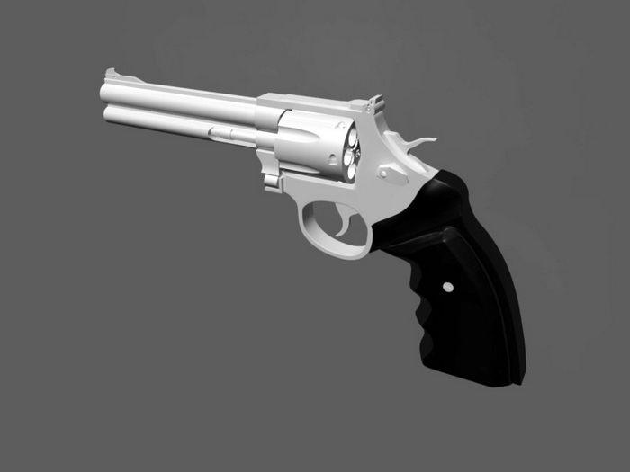 Revolver Gun 3d rendering
