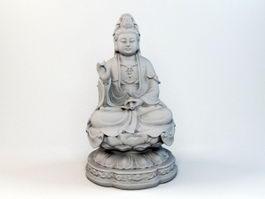 Avalokiteshvara Bodhisattva Statue 3d preview