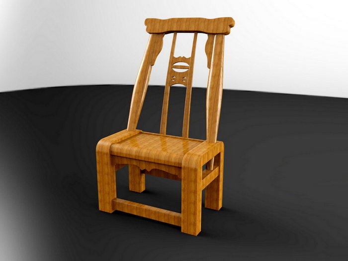Chinese Chair 3d rendering