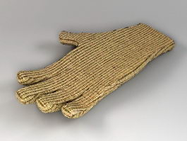 Knitted Glove 3d preview