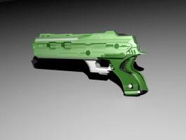 Sci Fi Pistol 3d model preview