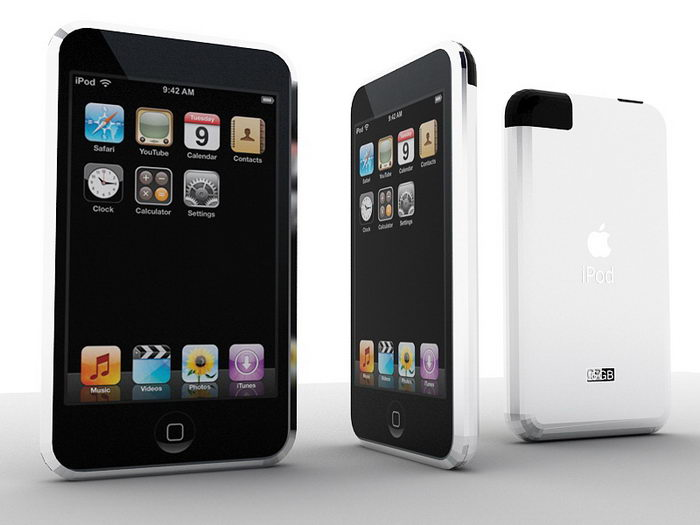 Apple iPod Touch 3d rendering