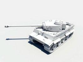 King Tiger Tank 3d preview