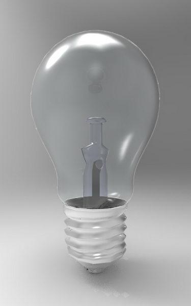 Light Bulb 3d rendering
