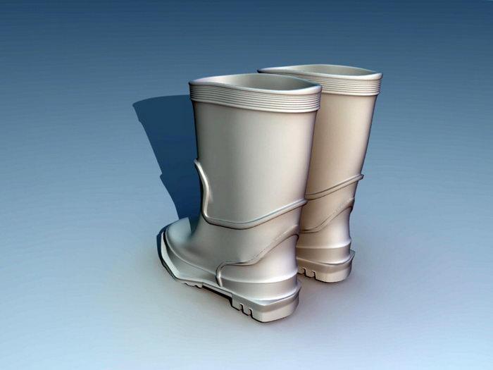 Rain Boots 3d rendering
