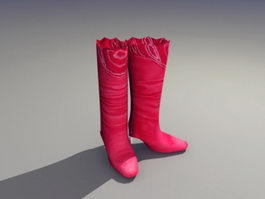 Red Boots 3d preview