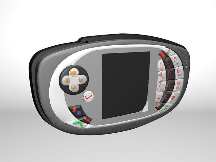 Nokia N-Gage QD 3d rendering
