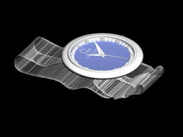 Blue Dial Watch 3d preview