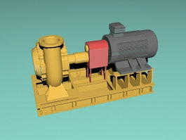 Water Turbine Generator 3d preview