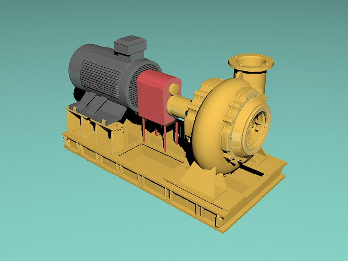 Water Turbine Generator 3d rendering