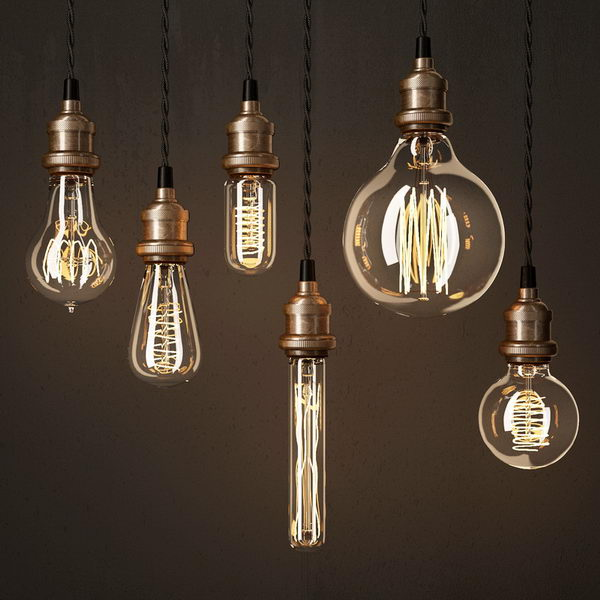 Edison Bulb Lamps 3d rendering