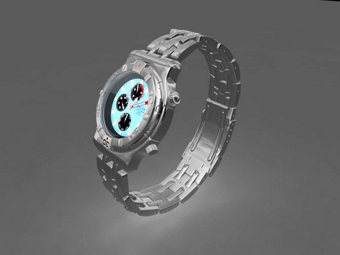 Expensive Watch 3d rendering