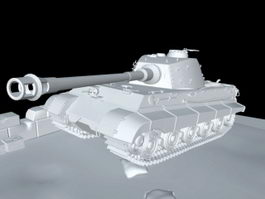 King Tiger Tank WWII 3d preview