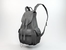 Black Backpack 3d preview