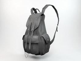 Black Backpack 3d model preview