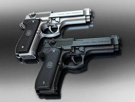 Beretta Pistol 3d model preview