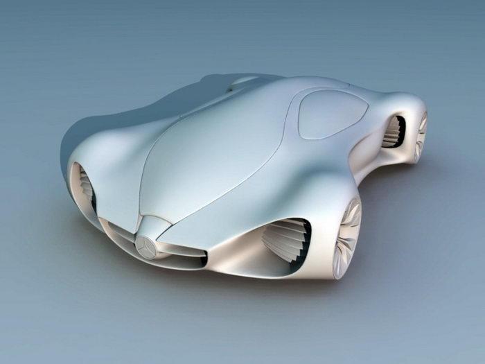 Benz Concept Car 3d rendering