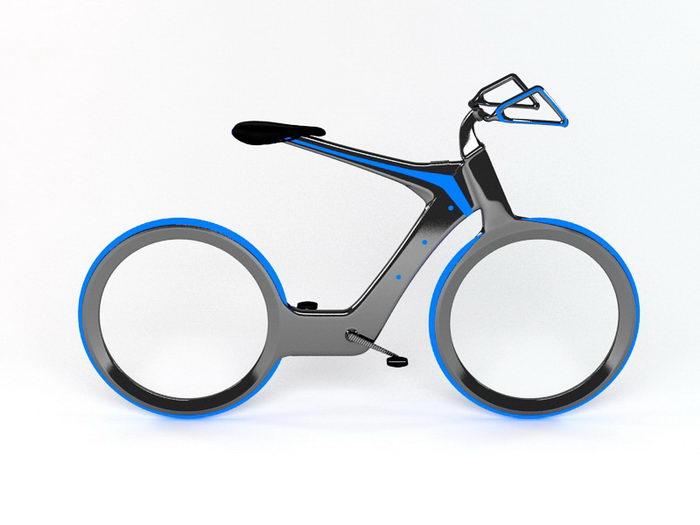 Futuristic Bicycle 3d rendering