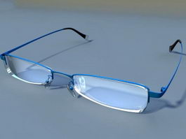 Semi Rimless Glasses 3d preview