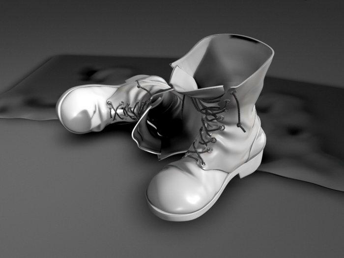 Men's Fashion Boots 3d rendering